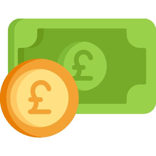 coloured pound icon